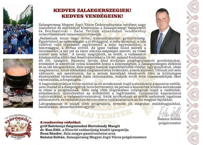 Zalaegerszegi Vadpörkölt és Borfesztivál 2016 – ZALAI TERÍTÉK