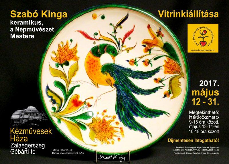 Vitrinkiállítás: Szabó Kinga a Népművészet Mestere, keramikus kiállítása