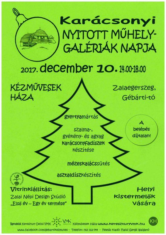 Nyitott Műhelygalériák napja: karácsony jegyében