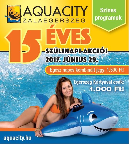15 éves az AquaCity
