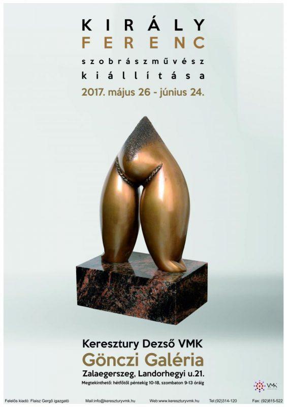 Király Ferenc Munkácsy-díjas szobrászművész kiállítása