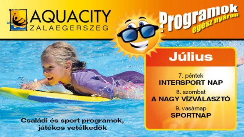 Sportnap az AquaCityben