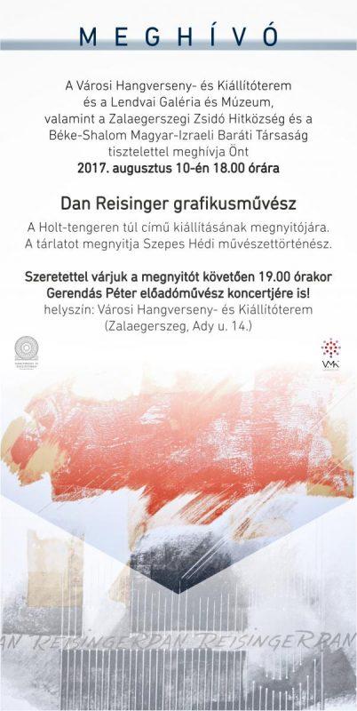 """Dan Reisinger grafikusművész kiállítása """"A Holt-tengeren túl"""" címmel"""