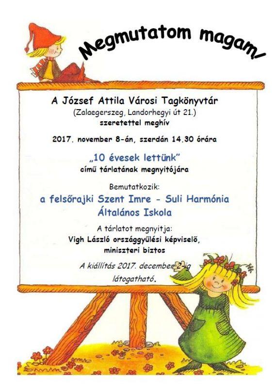 Megmutatom magam! A felsőrajki Szent Imre - Suli Harmónia Általános Iskola diákjainak kiállítása