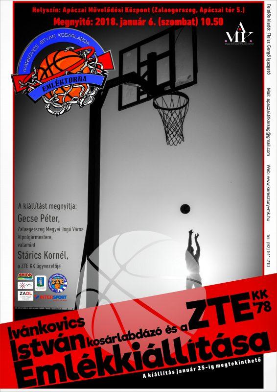 Ivánkovics István kosárlabdázó és a ZTE KK '78 Emlékkiállítása
